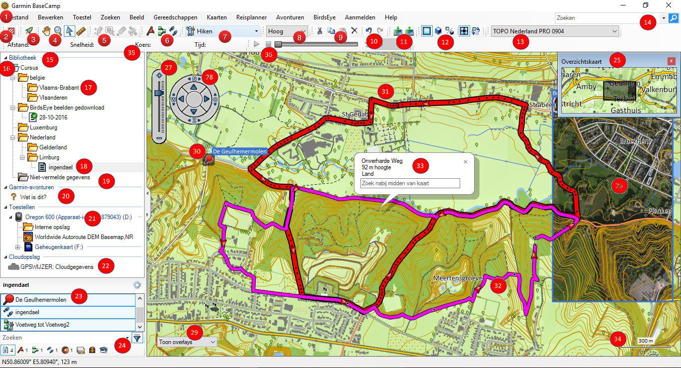 BaseCamp handleiding en wijzigingen - GPS Wijzer
