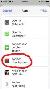 Garmin Explore app gpx bestand